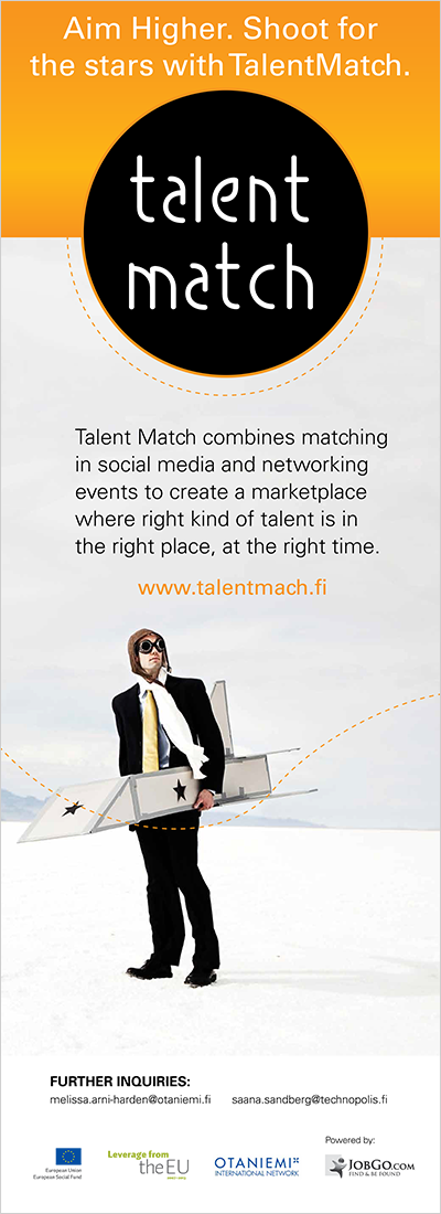 Talent Match- roll-up, suunnittelu Z-Factory